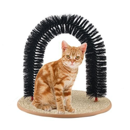 Purrfect Arch Self-Groomer& Massager Kitty Cat Perch Scratcher ESG10042