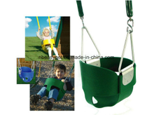 High Back Full Bucket Toddler Swing Seat with Plastic Coated Chains - Swing Set Accessories