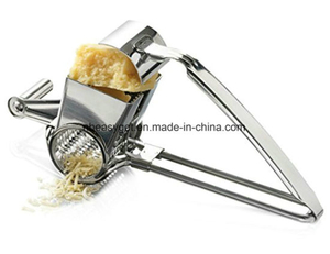 Stainless Steel Cheese Grater, Rotary Razor Sharp Blades Tools ESG10140
