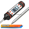 Meat Thermometer, Airsspu Stainless Instant Read Digital Cooking Thermometer for Food, Meat, Candy and Bath Water with Long Probe, LCD Screen