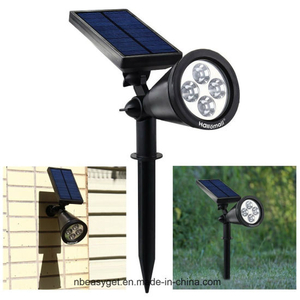 Upgraded Solar Lights Waterproof Outdoor Landscape Lighting Spotlight Wall Light Auto on/off for Yard Garden Driveway Pathway Pool (Warm White Light)