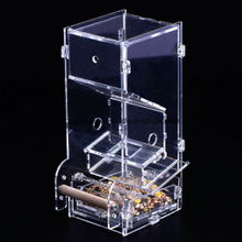 Acrylic Automatic Pet Bird Cage Feeder Food Container Feeding ESG10471
