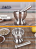 Stainless Steel Spice Grinder Garlic Device Mortar Pestle for Kitchen