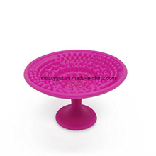 Silicone Makeup Brush Cleaning Washing Pad with Suction Cup ESG10376