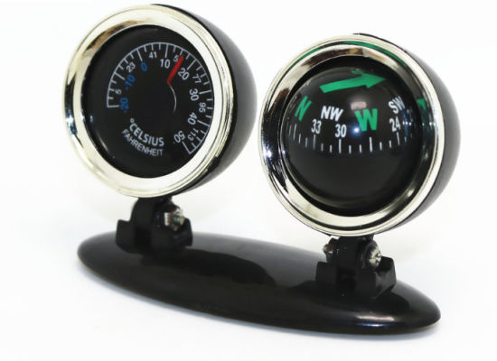 Car Compass with Thermometer, Black ESG10320