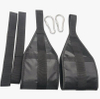 Fitness Ab Straps 1pair Gym Hanging Sling Straps with Quick Locks for Pull up Abdominal Training Workout Equipment ESG12876