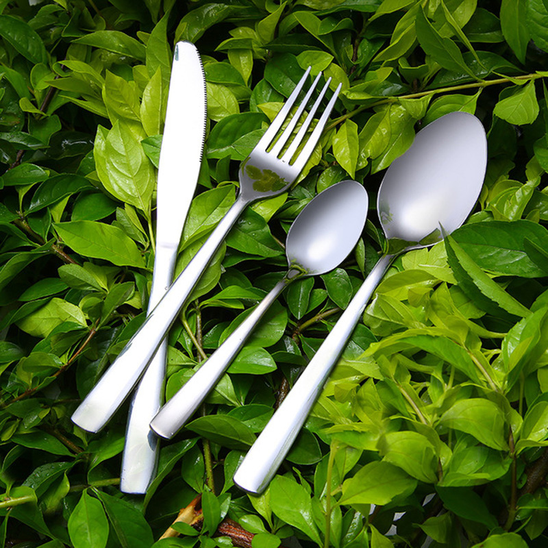 4 Piece Stainless Steel Flatware Set Including Fork Spoons Knife Cutlery ESG11897