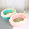 Cat Litter Box Semi Closed Cat Litter Box with Scoop Sifting Litter System Easy to Clean ESG12358