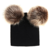 Baby Winter Warm Knit Hat Infant Toddler POM POM Beanie Photography Fur Ski Cap ESG13426