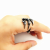 Punk Dragon Claw Rings High Quality Stainless Steel Casting Black for Men and Women ESG13417