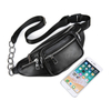 Unisex Leather Waist Bag with Small Chain Design on Belt ESG13373