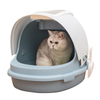 Jumbo Cat Litter Box with Scoop Fully Enclosed Rounded Roll-Top Lid Pan ESG12362